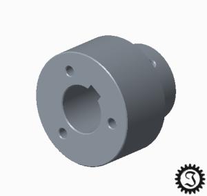 fahrende Bierkiste Bremsscheibenaufnahme CAD