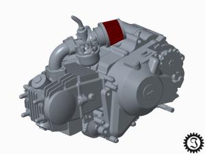 fahrende Bierkiste Motor CAD-Modell
