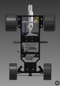 fahrende Bierkiste CAD-Modell Unterseite