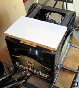 fahrende Bierkiste Sitz