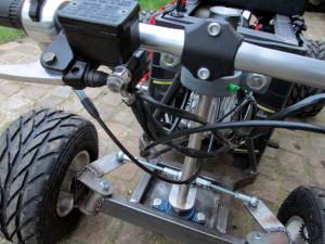 fahrende Bierkiste Bremsleitung
